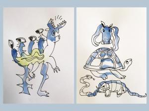 Week 7: vlekkenbeest   Knutsel je eigen fantasiedier